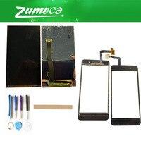 Tela de reposição para anel  digitalizador touch screen  fs 518 fs518  peça de substituição preta com fita & ferramenta