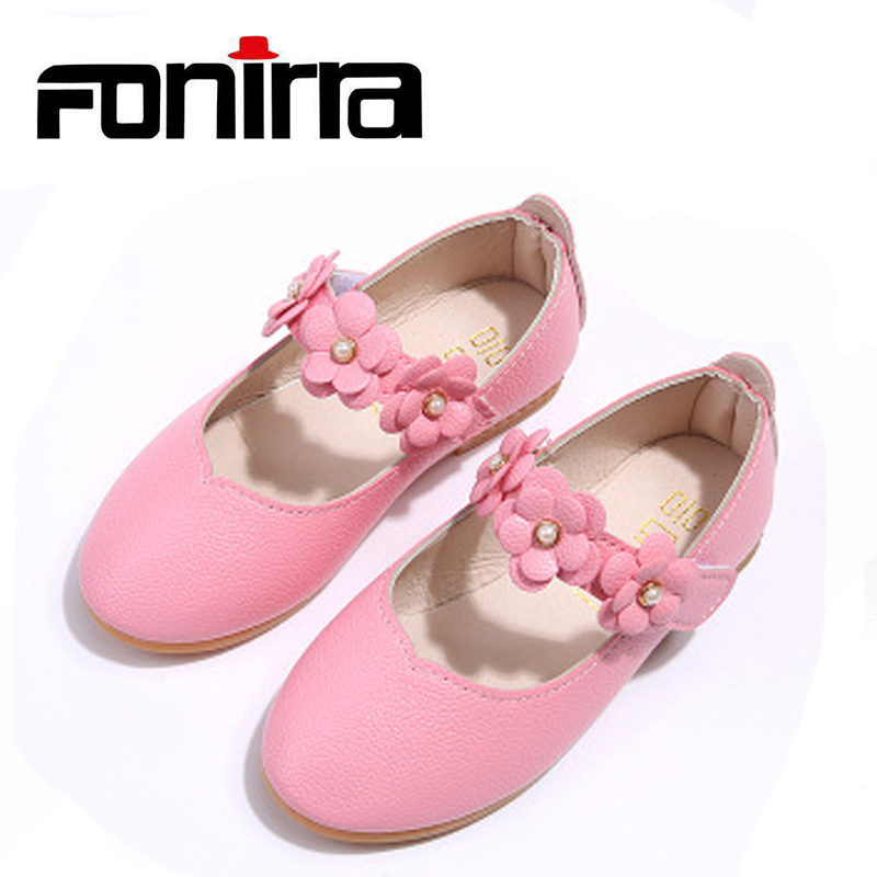 Fashionable Girls Spring Autumn Comfortable Flat With Shoes Girls Party Princess Flower Breathable Casual Shoes Fonirra 350