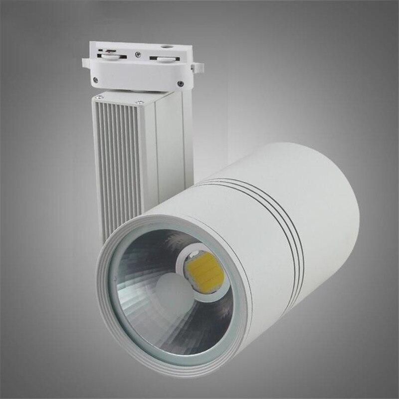 30w Led Track Lighting Fixtures: COB 30W LED Track Light AC85 265V Track Lighting Retail