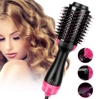 One Step Hair Dryer And Styler Hair Curler Styling Tools Constant Temperature Negative Ion Hot Air Brush Comb Fast Dry Volumizer