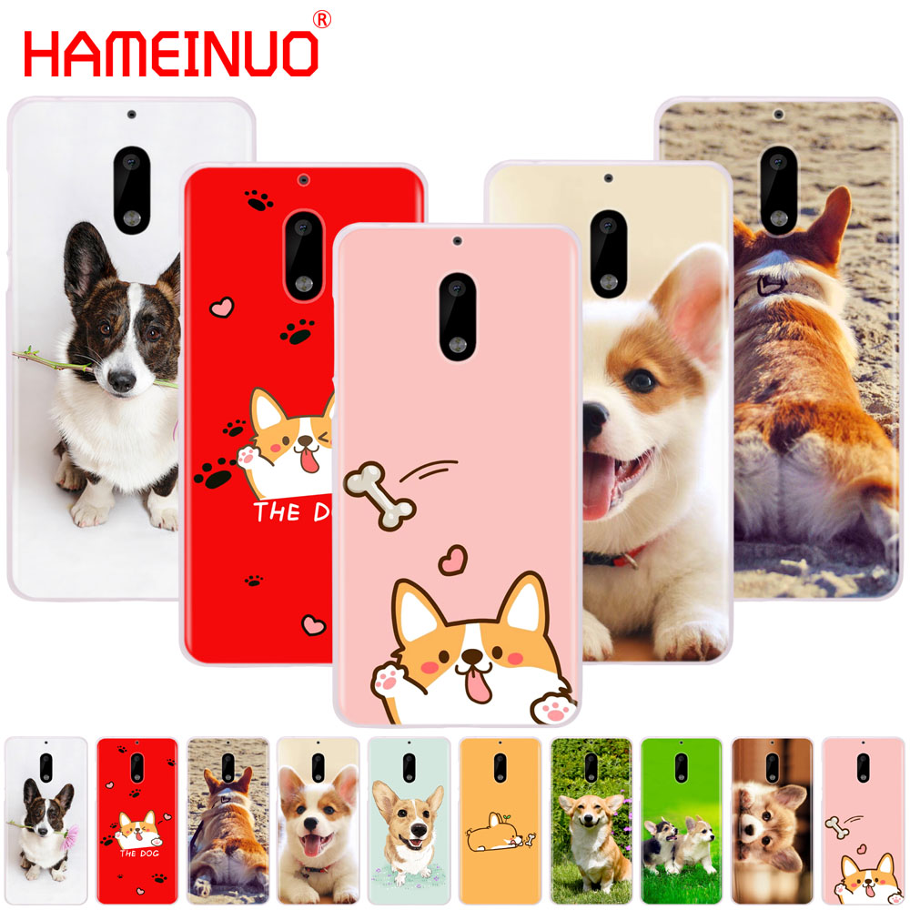 HAMEINUO Corgi <font><b>dog</b></font> cute animal Cartoon cover phone <font><b>case</b></font> for <font><b>Nokia</b></font> 9 8 7 6 5 <font><b>3</b></font> Lumia 630 640 640XL 2018 image