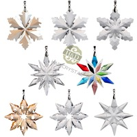 8PCS/lot K9 Crystal Car Accessories Beautiful Window Austrian Crystal Pendant Colorful Prisms Chandelier Part Home Decoration