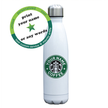 Индивидуальная бутылка Изолированная Вакуумная чашка под заказ с двойными стенками из нержавеющей стали двойная термобутылка индивидуальный подарок