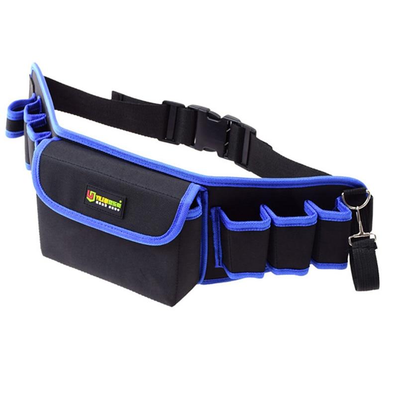 Electricians Adjustable Waist Pocket Belt Tool Bag Pouch Hammers Pliers Screwdriver Holder Storage Hand Repair Tool Organizer