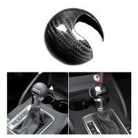 Real Carbon Fiber Gear inner Shift Knob Head Cover Trim For AUDI A3 S3 2012 2018 Auto Car Interior Gear Shift