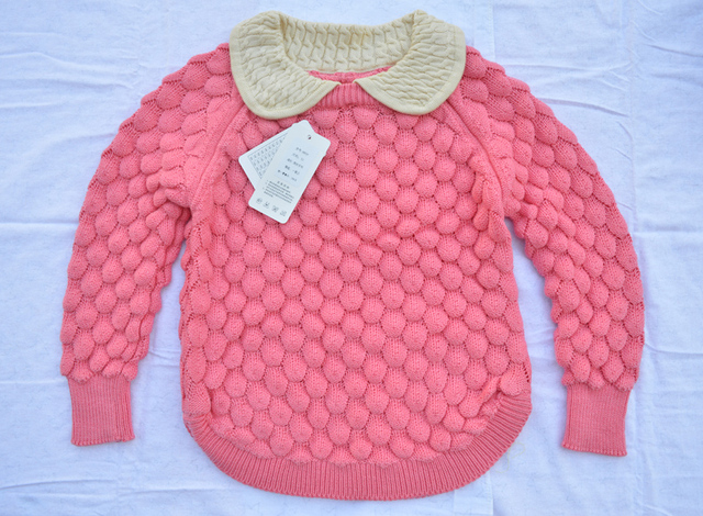 9f5873d56e0b new baby girls sweater autumn winter cotton sweater girls neck short ...