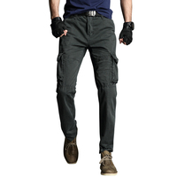 2019 new military men cargo pants streetwear joggers multi poctets tactical trousers drop shipping ABZ322