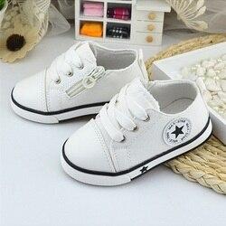 Neue Baby Schuhe Atmungssegeltuchschuhe 1-3 Jahre Alt Jungen Schuhe 4 Farbe Komfortable Mädchen Baby Turnschuhe Kinder kleinkind Schuhe