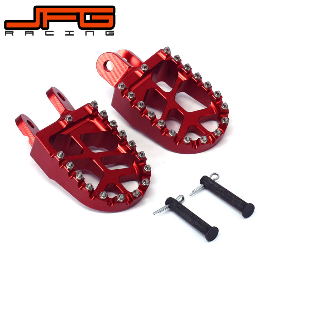 Motorcycle Billet Foot Pegs Pedals Rests For HONDA CR80 XR250 XR400 96-05 XR350R 83-84 XR600R 89-00 XR650L 92-16 XR650R 00-05 morais r the hundred foot journey