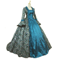 18th Century Historical Stage Costume Ball Gown Halloween Southern Belle Ball Gown Costumes