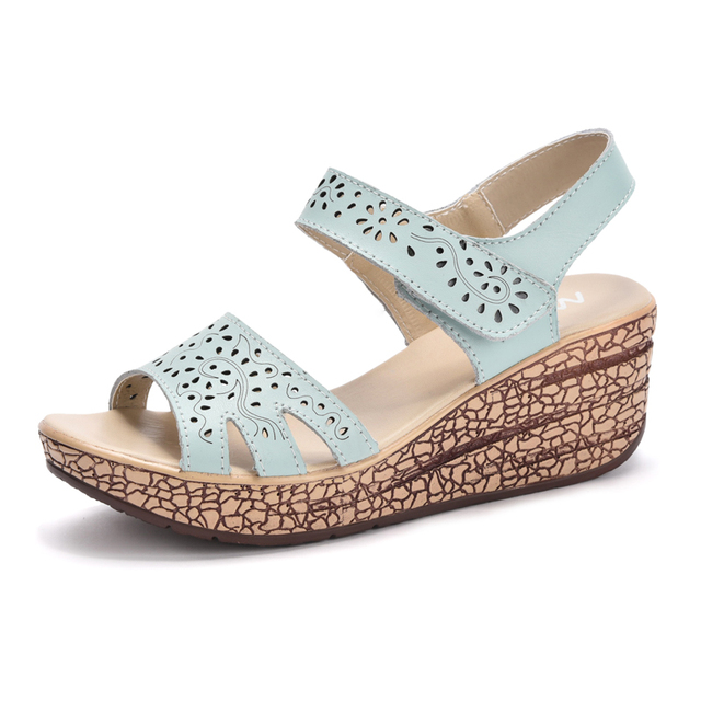 917d2eee356 Sandale Femme Haut Talon Women Wedges Sandals Platform Shoes Female  Footwear Sandales Plates Femmes Summer Sandalen Vrouwen
