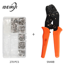 SN-48B wire crimping plier precision jaw 0.5-1.5mm2 26-16AWG  with 270pcs/box TAB 2.8 4.8 6.3 terminals kit tools kit crimping plier sn 48b sn 28bs sn 06wf sn 02c with 5 jaw for terminals d1b stripping wire cutters electric calmp hand tools