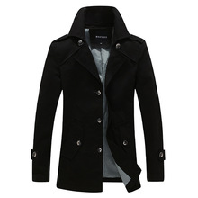 Autumn and winter new men's single breasted jacket lapel badges symmetrical design