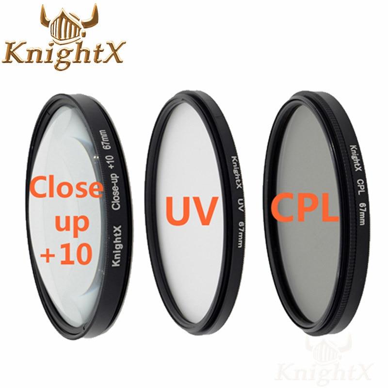 Knightx 67mm 52mm 58mm مرشح المستقطب cpl الأشعة فوق البنفسجية لنيكون d5300 كانون 1200d 600d 100d عدسة 5d 6d 7d 70d d3300 d3200 d5200 d5500