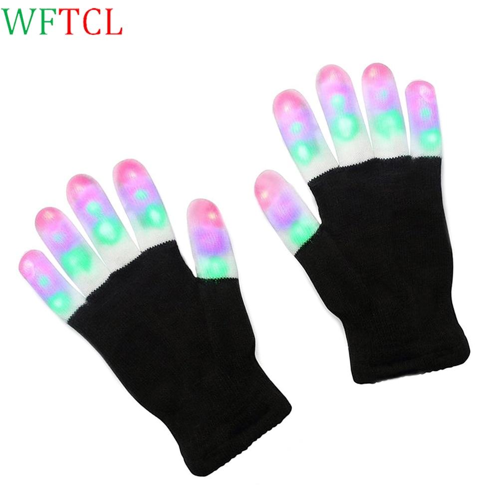 LED Gloves Flashing Fingertip Light Toys Novelty Christmas Gift, Lightshow Dancing Glove ...