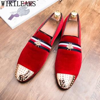 Party Shoes For Men Coiffeur Dress Formal Designer Wedding Elegant Italian Brand Sepatu Slip On Pria Ayakkab - discount item  52% OFF Men's Shoes