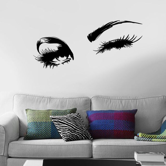 Aliexpresscom Buy High Quality Sexy Beautiful Eyes Wall Sticker - Vinyl stickers designaliexpresscombuy eyes new design vinyl wall stickers eye wall