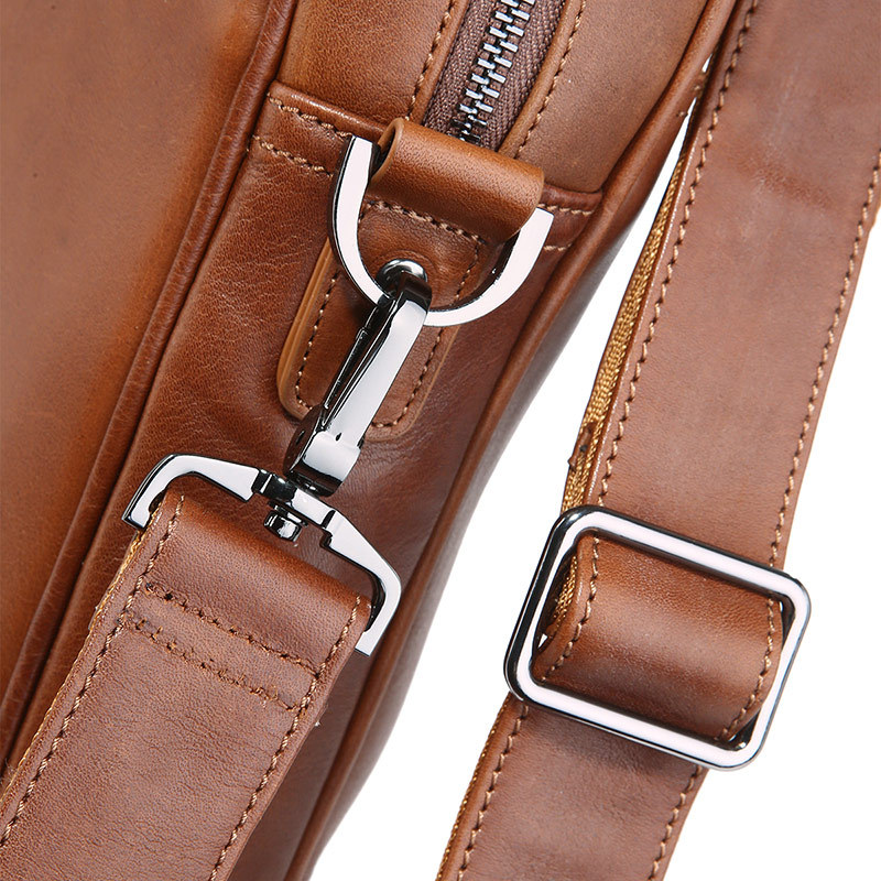 Nesitu Black Brown Genuine Leather Office Men Briefcase Messenger Bags Real Skin Business Travel Bag 14'' Laptop Portfolio M7349