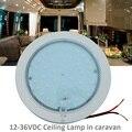 12 V-36 V DC LLEVÓ La Lámpara Caliente Blanco Dome Light 220mm Lámpara de Techo Caravana/Remolque Camper/RV Accesorios de Camping