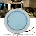 12V-36V DC LED Lamp Warm White Dome Light 220mm Ceiling Lamp Caravan/Camper Trailer/RV Camping Accessories