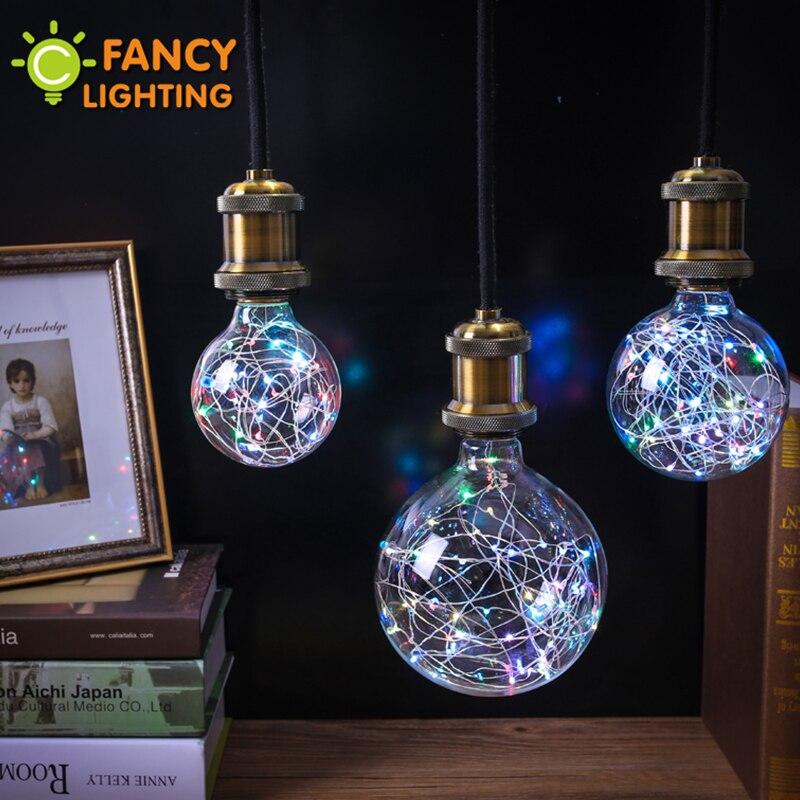 Holiday lights rgb led bulb christmas string light indoor e27 fairy light 110v 220v edison decorative lamp navidad FANCYLIGHTING