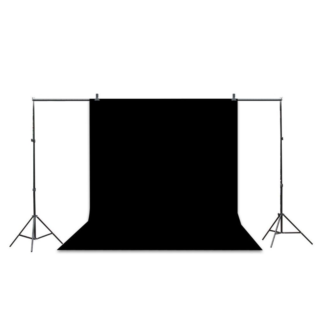 Professional Studio Background Stand Kit - 10x6.5ft Photo Backdrop Support Stand Kit + Backdrop Screen (Black,Green,