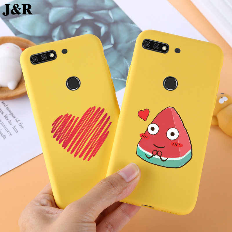 Silicone Cover For Huawei Honor 7C Case Soft Back Covers For Huawei Honor 7 C 7C Honor7C Phone Bags Protective Fundas Coque