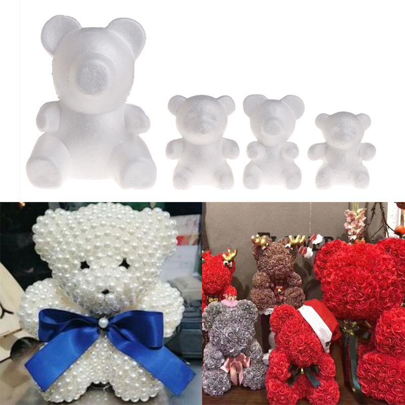 Моделирование Медведь белый пенопластовый шар пенопласта ремесла для DIY рождественские подарки Свадебная вечеринка поставки украшения