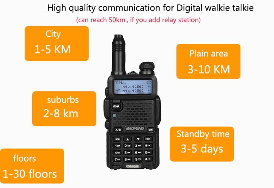 Cb Radio Ham Hf Transceiver DSP Upgraded Baofeng Dm 5r Dmr Radio With  Encryption for Motorola HYT Digital Walkie Talkie SMS 64