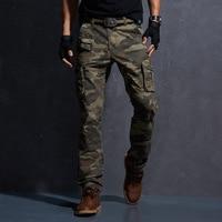 2018 Весна Военная униформа брюки карго Тактический хлопок повседневное камуфляж мотобрюки для мужчин Pantalon Homme