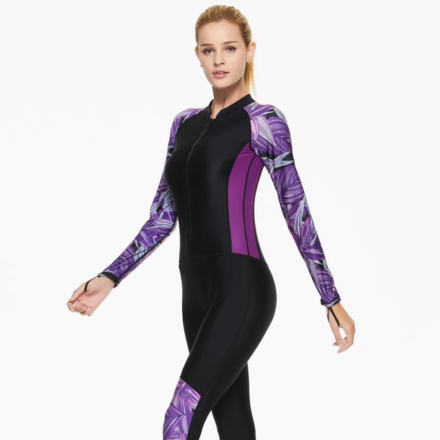 SBART New Lycra Women One Piece Diving suit for Snorkeling Surfing Swim stinger suit UPF50+ Dive Skin Wetsuit Full body Swimwear