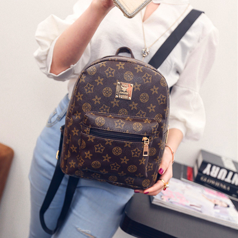 Latest Fashion Women Sweet Floral Pu Leather Street Travel Office Mini Double Shoulder Bucket Bag Backpack for Ipad Phone Wallet 12mm waterproof soprano concert ukulele bag case backpack 23 24 26 inch ukelele beige mini guitar accessories gig pu leather