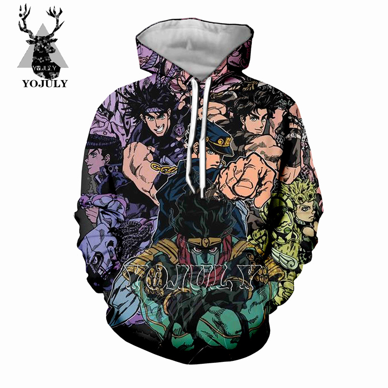 YOJULY Jojo Bizarre Adventure 3D Print Hoodie Hooded Summer Unisex Casual T Shirt Men/Women Vest/Pullover/Sweatshirt/Shorts A165