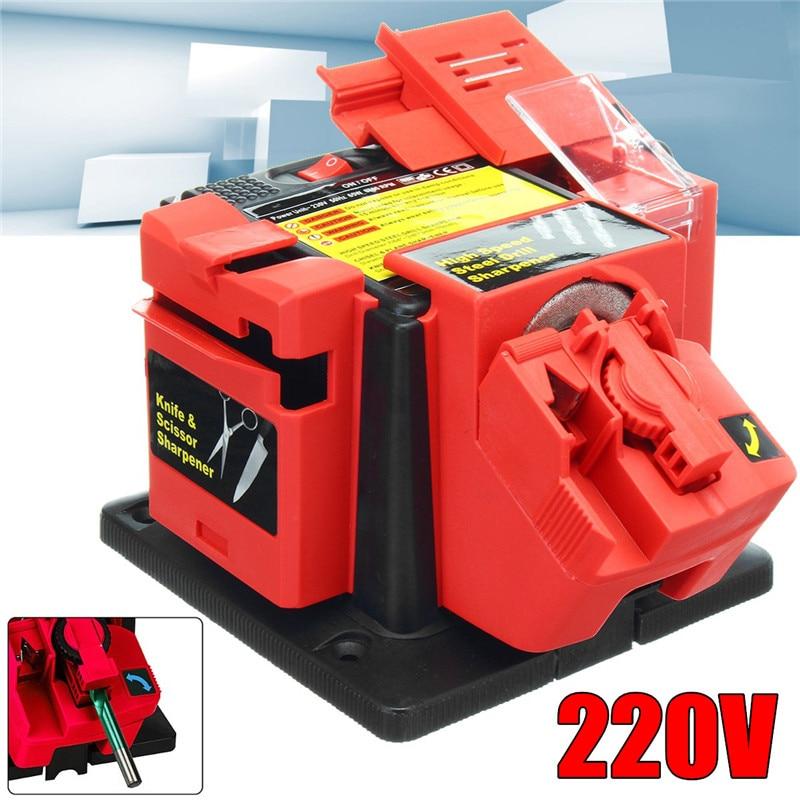 220 V affûteuse polyvalente pour forets burins lames de rabot ciseaux couteaux outil électrique
