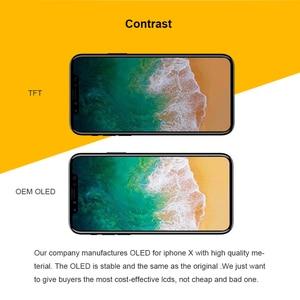 Image 2 - AAA + + OEM TFT OLED Display Für iphone X XR XS XS MAX LCD Bildschirm Touch Digitizer Montage Ersatz Für tianma iphone X LCD