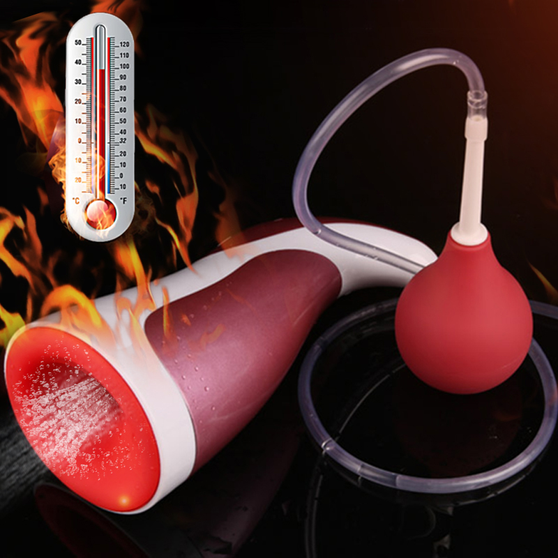 Oral Sex Cup Male Masturbator Vibrator Vagina for Men ,Auto Heating,Simulated Ejaculation Pocket Pussy Sex Toys for Adult Man men prolong ejaculation trainer male masturbator masturbator cup artificial vagina pussy sex toy for men sex product