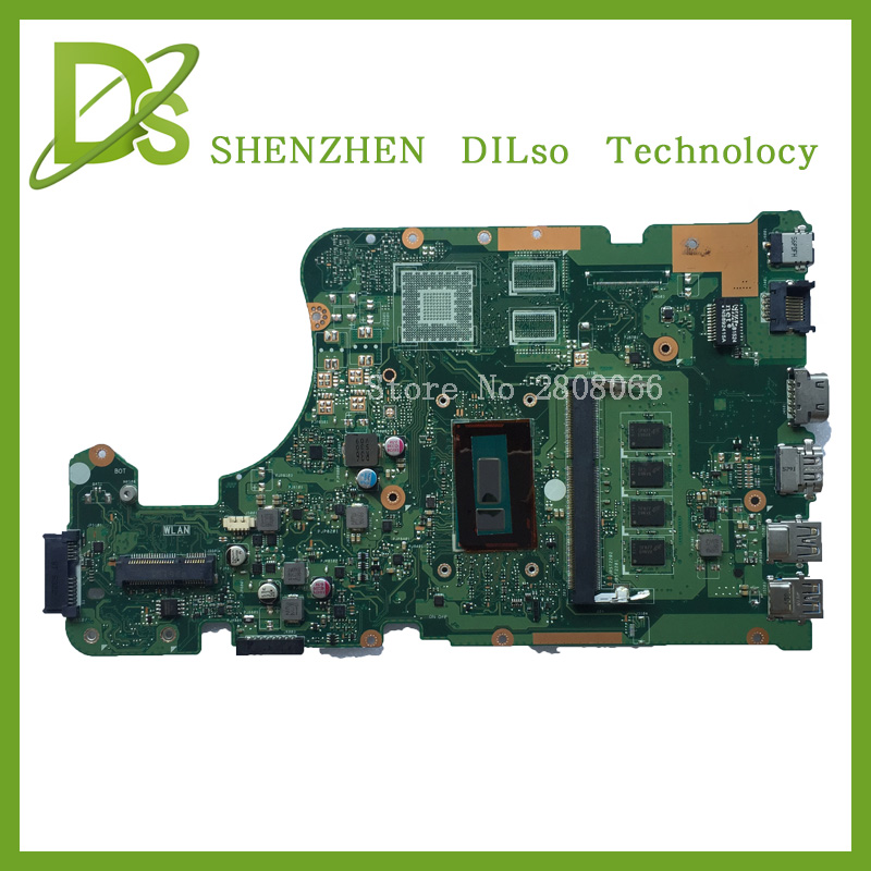 KEFU X555LD motherboard For ASUS X555LD X555LA laptop motherboard X555LD rev3.6 integrated i5 cpu motherboard Test