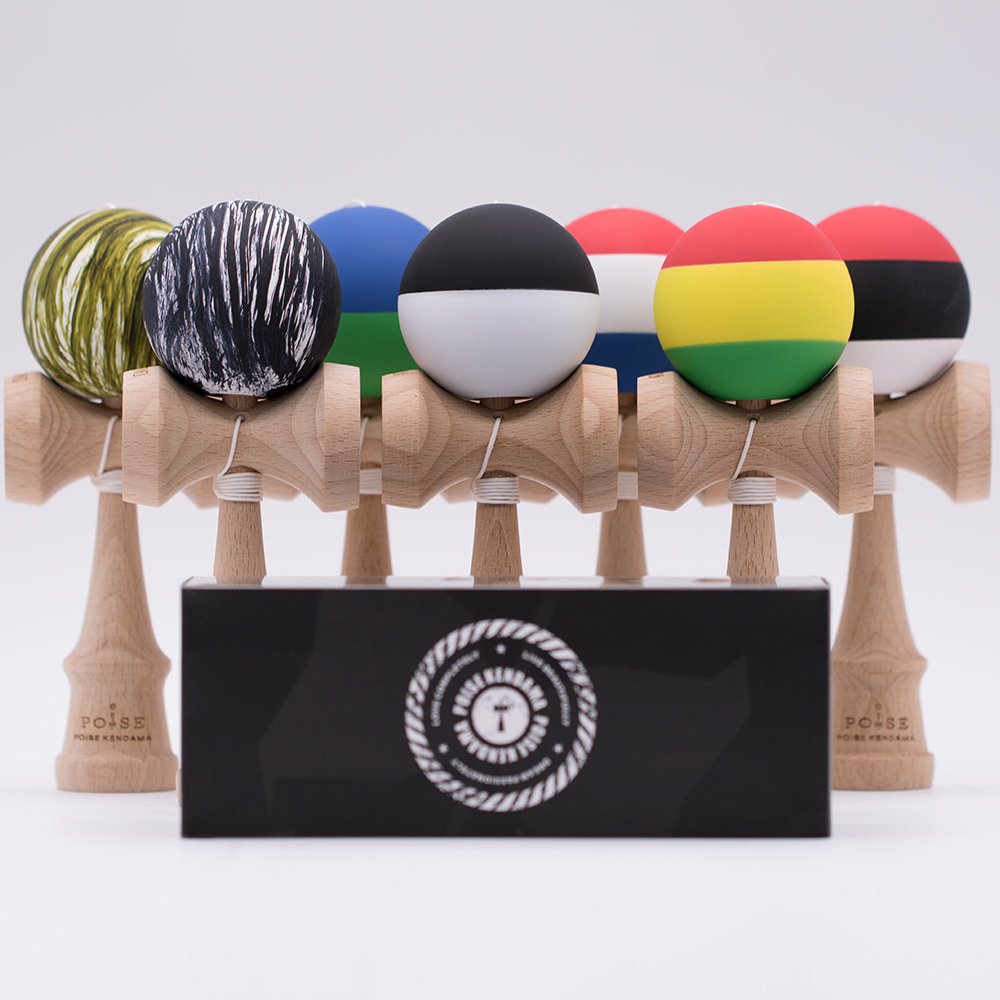 Color game japanese - Fedexie Ip Ie Or Dhl 6pc Professional Metal Color Paint Maple Kendama Ball Japanese Traditional Game