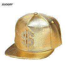 Бейсбольные Кепки из искусственной кожи с золотым логотипом доллара$ с шикарным хип-хопом Gorras Snapback Кепка Регулируемая модная крутая Кепка для унисекс