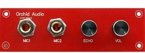 Image 3 - 12 V Karaoke Ses Kartı PT2399 ile NE5532 Preamplifikatör Mikrofon Amplifikatör + Panel