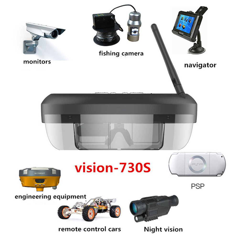 1pcs Black 3D 5.8G 40 Channels 68 inch LCD Display Immersive FPV Glasses Binocular Eyepatch For 250/F210 Drone 8 inch high definition p83 glasses free 3 d tm080xfh04 display 6 mm thick backlit lcd