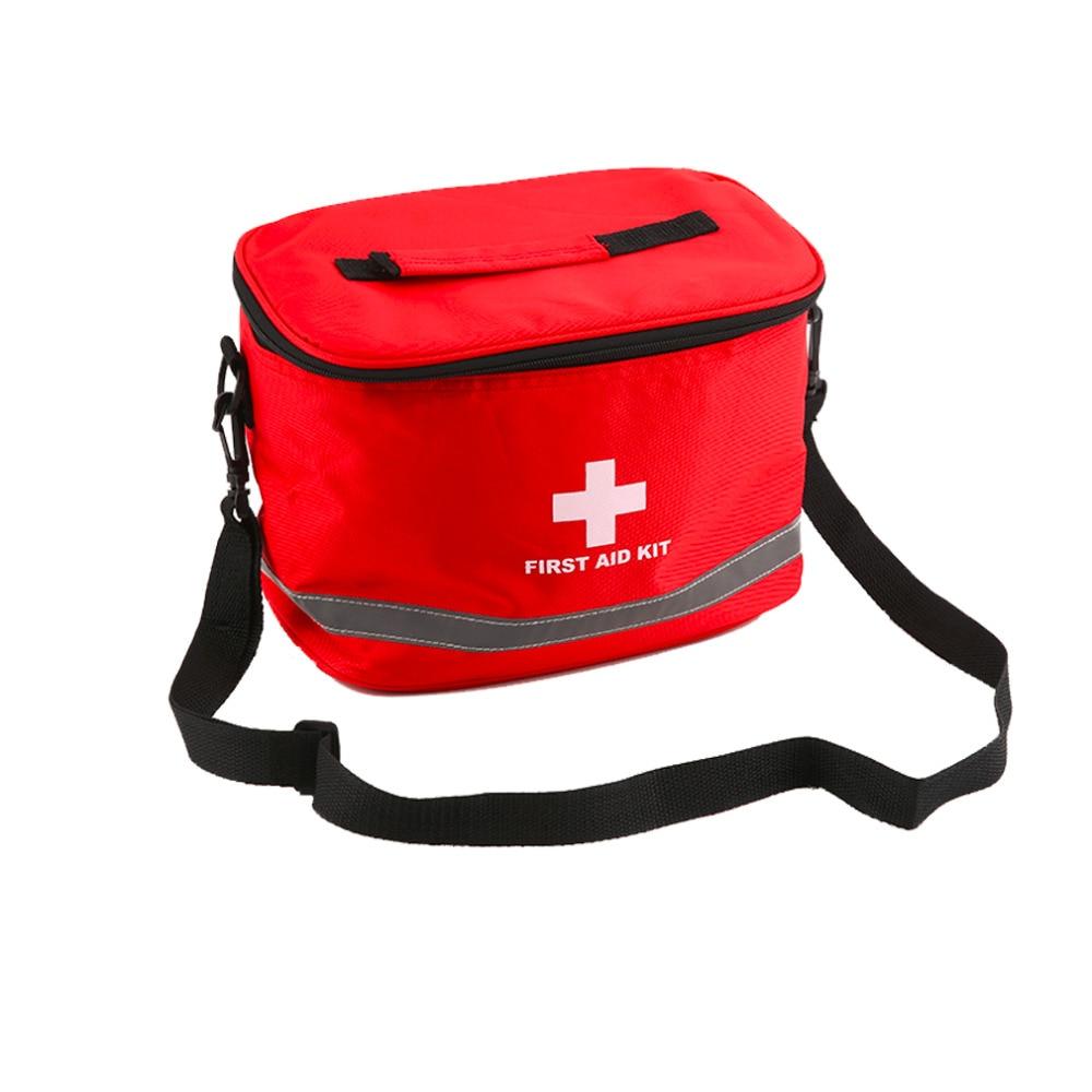 Large Red Nylon Survival First Aid Kit Bag Home Outdoor Camping Medical Bag Emergency Survival Storage Case Free Shipping niko black 21 23 26 ukulele bag silver edge nylon soprano concert tenor soft case gig bag 5mm thick sponge