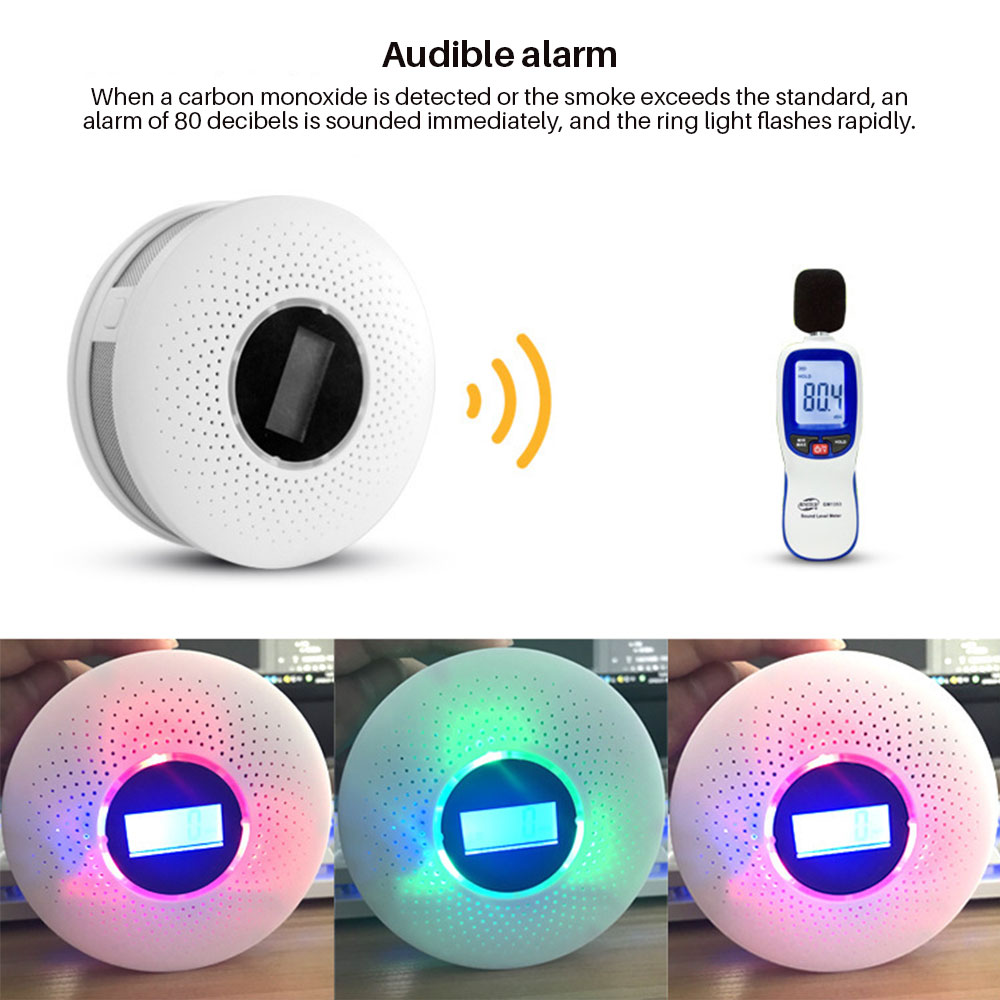 Image 3 - Smoke Detector Sensor Fire Alarm Universal CO&Smoke Detector Carbon Monoxide For Kitchen/Restaurant/Hotel/Home Security-in Smoke Detector from Security & Protection