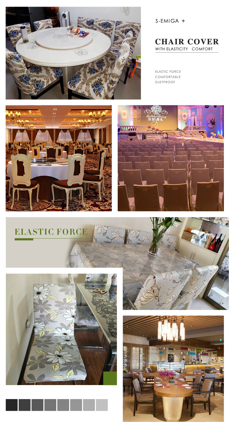 Floral Printing Stretch Elastic Chair Covers 2