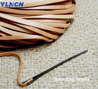 Американский импортный американский кожаный канат иглы два отверстия кожаная линия для плетения и вязания ручной стежок sweing DIY Инструменты...