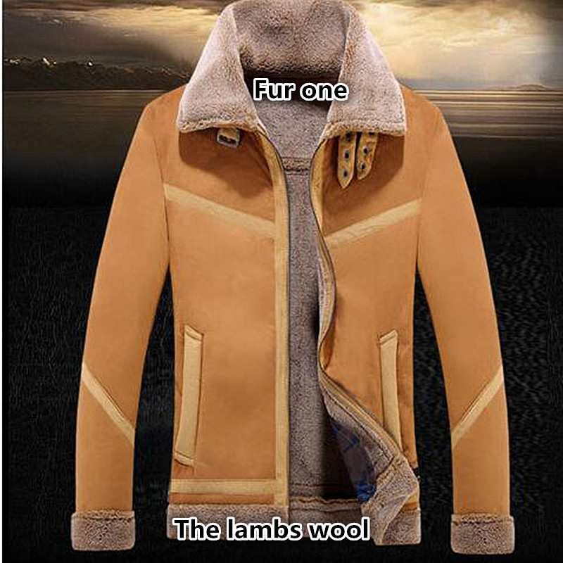 NEW Hot sale Fashion2017 new winterSpecial offer new men's wear fur leather men's leather leather coat lapels male fur jacket
