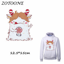 ZOTOONE Heat Transfer Clothes Stickers Cute Unicorn Patches for T Shirt Jeans Iron-on Transfers DIY Decoration Applique Clothes 50pcs wholesale bird heat transfers iron on patches for coat jeans t shirt clothes decorative diy craft stickers applications