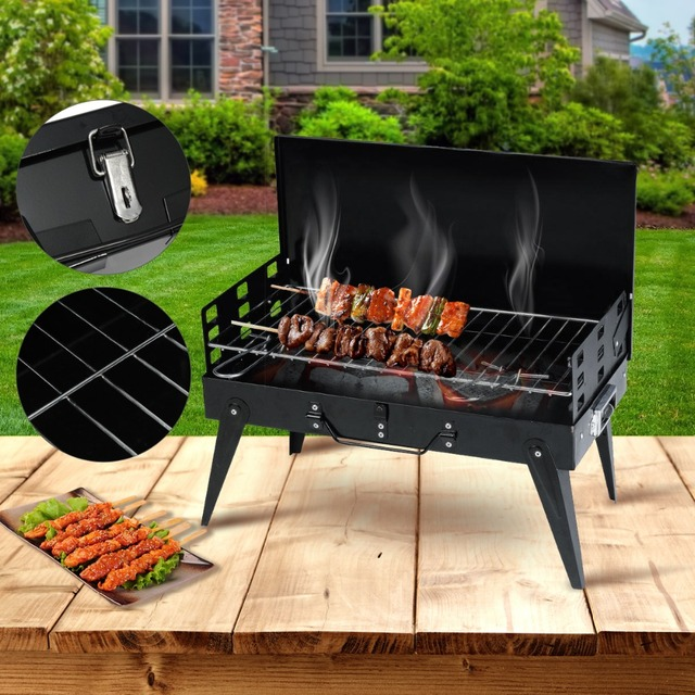 BBQ Barbecue Grills Burner Oven Outdoor Garden Charcoal Barbeque Patio  Party Cooking Foldable Picnic For 3