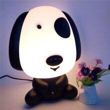Children Kids Bedroom Rich Dog Cute Cartoon Style Night Light Bedside Decorative Lamp Great Birthday Gift