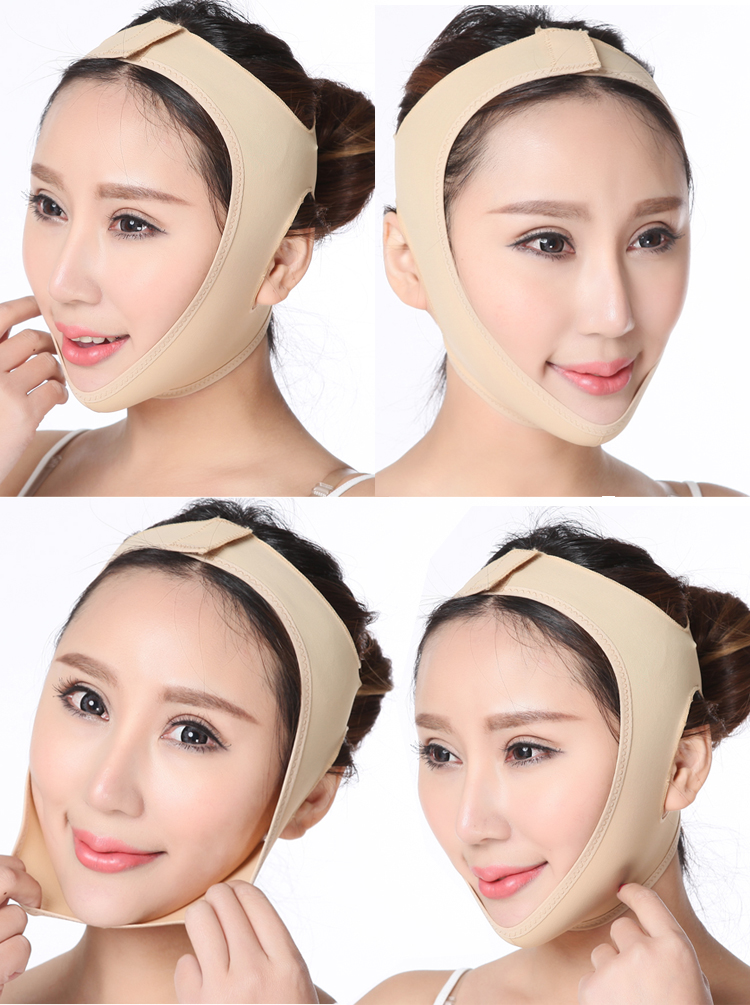 3D V Face Slimming Mask Massage Relaxtion Facial Slim Up Belt Lifting Chin Thin Cheek Sauna Bandage Beauty Health Care Tool
